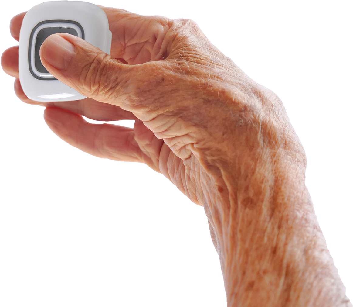 Senior pushes duress button for resident safety