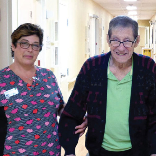 Nurse and Resident at Tilbury Manor
