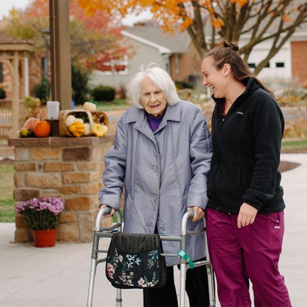 Bridgewater Retirement Community, a resident and a caretaker